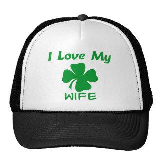 Amo a mi esposa irlandesa gorras