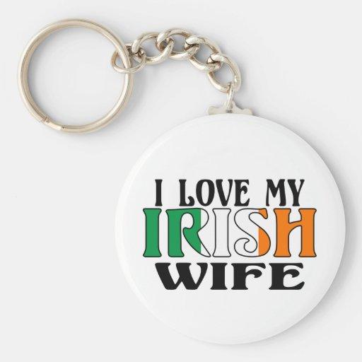 Amo a mi esposa irlandesa llaveros personalizados
