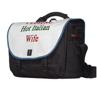 Amo a mi esposa italiana caliente bolsa de ordenador