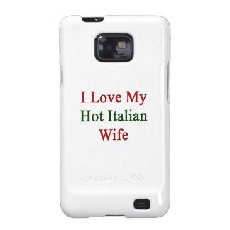 Amo a mi esposa italiana caliente galaxy s2 funda