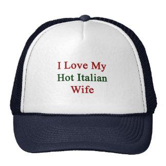 Amo a mi esposa italiana caliente gorro de camionero