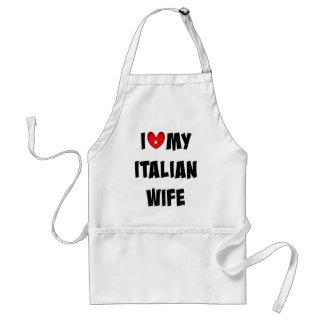 Amo a mi esposa italiana delantal