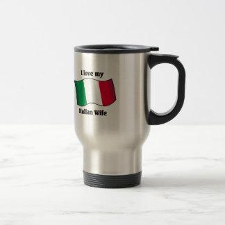 Amo a mi esposa italiana taza de café