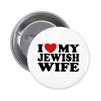 Amo a mi esposa judía pin redondo 5 cm