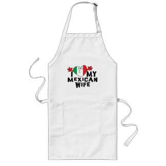 Amo a mi esposa mexicana delantal largo
