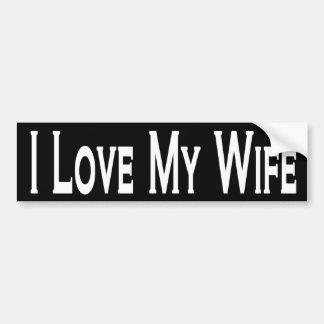 Amo a mi esposa pegatina para auto