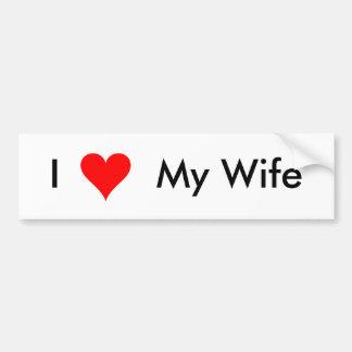 Amo a mi esposa - pegatina para el parachoques pegatina para auto