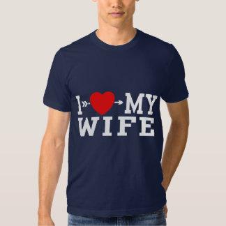 Amo a mi esposa playeras