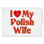 Amo a mi esposa polaca felicitacion