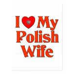 Amo a mi esposa polaca postal