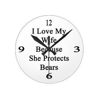 Amo a mi esposa porque ella protege osos reloj