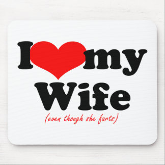 Amo a mi esposa tapetes de raton