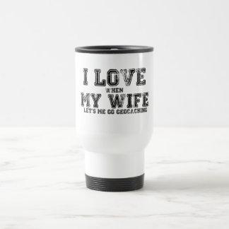 ¡Amo a mi esposa! Taza Térmica