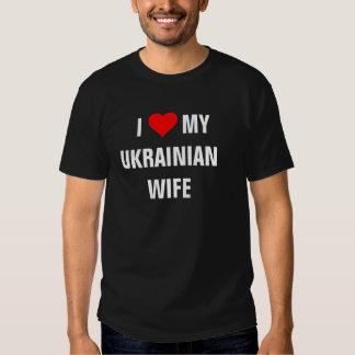 """Amo a mi esposa ucraniana "" Playeras"