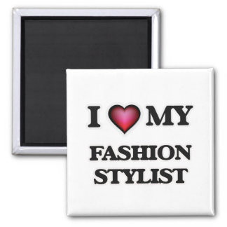Amo a mi estilista de la moda imán cuadrado