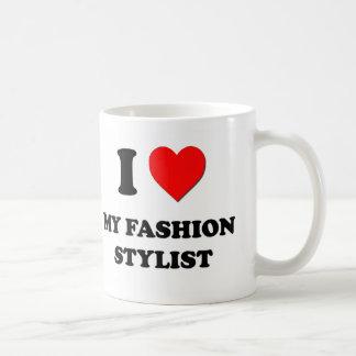 Amo a mi estilista de la moda tazas de café