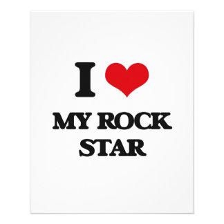 Amo a mi estrella del rock tarjetas informativas