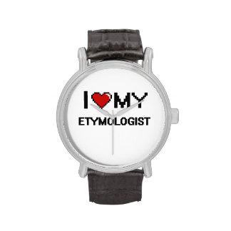 Amo a mi etimólogo reloj