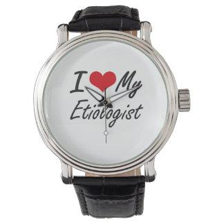 Amo a mi Etiologist Relojes De Pulsera