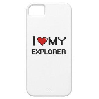 Amo a mi explorador funda para iPhone 5 barely there