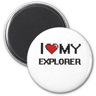 Amo a mi explorador imán redondo 5 cm