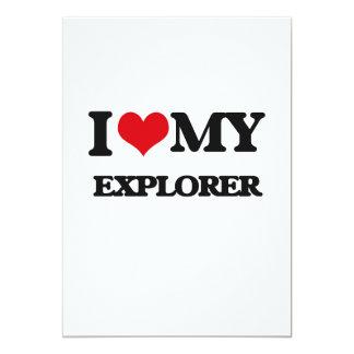Amo a mi explorador invitación 12,7 x 17,8 cm
