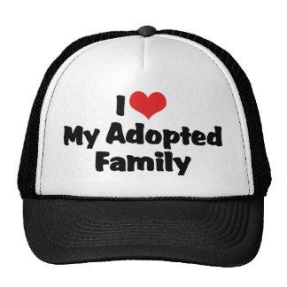 Amo a mi familia adoptada gorros