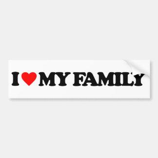 AMO A MI FAMILIA PEGATINA DE PARACHOQUE