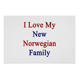 Amo a mi familia del nuevo noruego póster