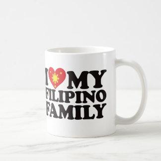 Amo a mi familia filipina taza