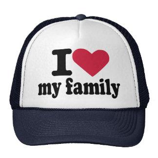 Amo a mi familia gorros