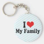 Amo a mi familia llavero