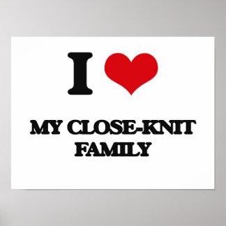 Amo a mi familia unida póster