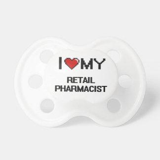 Amo a mi farmacéutico al por menor chupetes para bebés