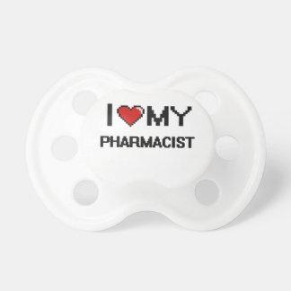 Amo a mi farmacéutico chupetes para bebés