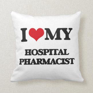 Amo a mi farmacéutico del hospital almohada