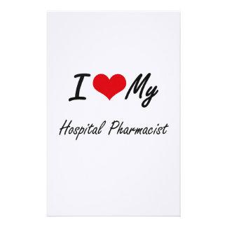 Amo a mi farmacéutico del hospital papeleria