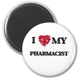 Amo a mi farmacéutico imán redondo 5 cm