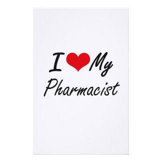 Amo a mi farmacéutico papeleria de diseño