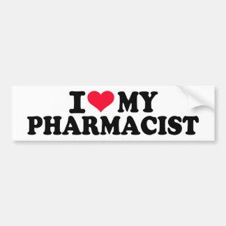 Amo a mi farmacéutico pegatina para auto