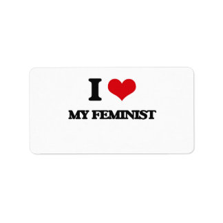 Amo a mi feminista etiquetas de dirección
