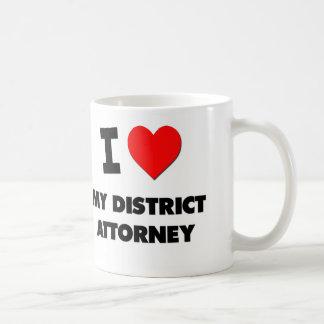 Amo a mi fiscal de distrito taza