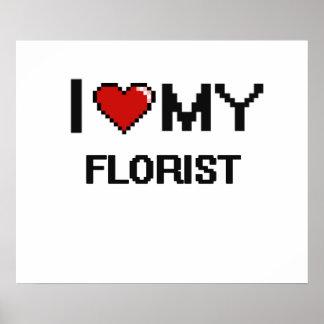Amo a mi florista póster