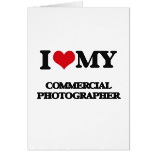 Amo a mi fotógrafo comercial tarjetón