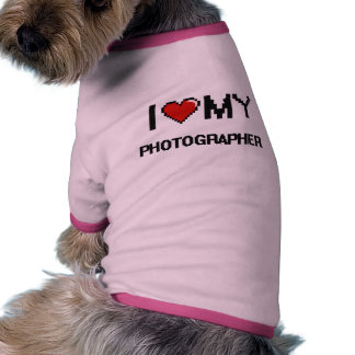 Amo a mi fotógrafo camiseta con mangas para perro
