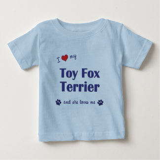 Amo a mi fox terrier del juguete (el perro playera