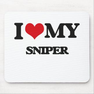 Amo a mi francotirador alfombrillas de ratones