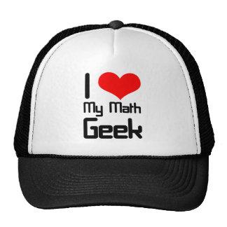 Amo a mi friki de la matemáticas gorras de camionero