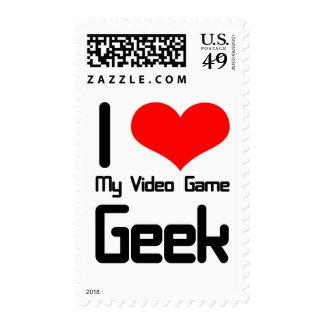 Amo a mi friki del videojuego sellos