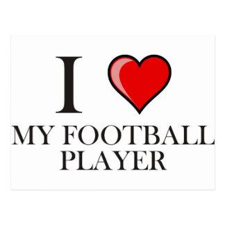 Amo a mi futbolista postales